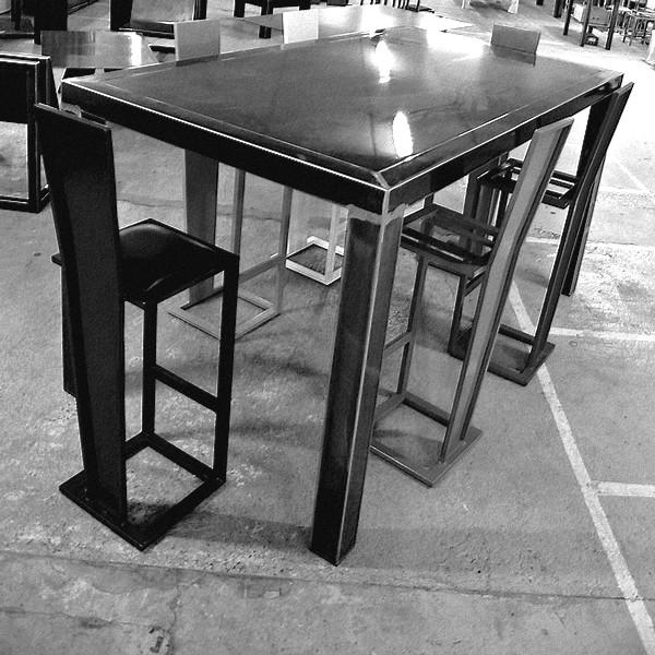 TABLE DE BAR LOFT ACIER