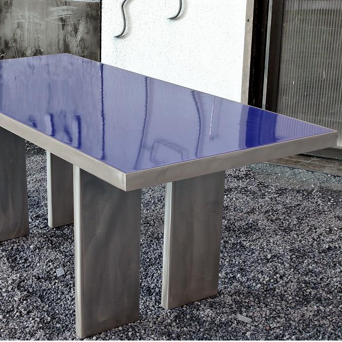 TABLE POP ACIER COLOR BLUE